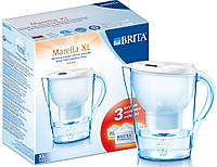 Фильтр-кувшин для воды Brita Starter Pack Marella XL (+3 Maxtra) Белый