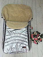 Конверт-чехол в санки,коляску Кидс Макс цвет серебро