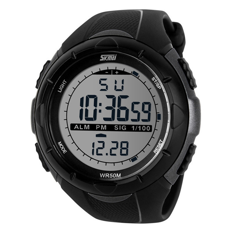 Мужские спортивные часы Skmei Military Dive (1025) серые