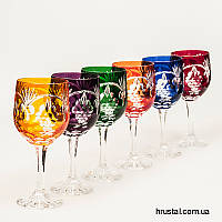 Хрустальные Разноцветные Бокалы для Вина Julia 280 мл 6 шт. FV9728