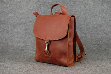 Жіночий шкіряний рюкзак Венеція, розмір міні, натуральна Вінтажна шкіра колір коричневый, оттенок Коньяк