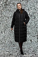 Женский пуховик с ангорой / размер 46,48,50,52,54,56 / цвет черный, фото 2