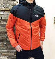 Мужская куртка осенняя оранжевая