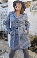 Демисезонное женское пальто из замши Размеры 48-50, 52-54, 56-58