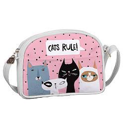 Сумка для подростков Junior girl Коты Cats rule! (SDG_18A003_WH)
