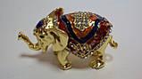 Шкатулка с камнями Слон размер 10*5*6, фото 2