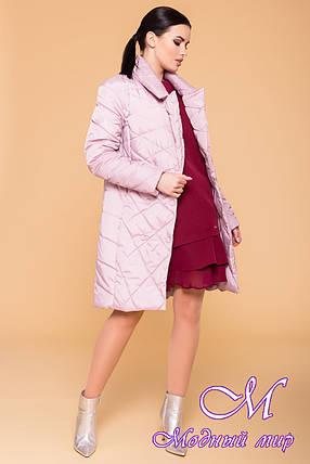 Женская демисезонная куртка удлиненная (р. S, M, L) арт. Сандра 6422 - 41357, фото 2