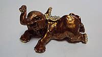 Шкатулка с камнями Слон размер 10*5*5