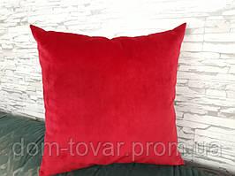 Подушка декоративная 40х40 красная