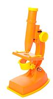 Оранжевый микроскоп на батарейках KM 3102 C 20 см, инструменты, линзы, свет