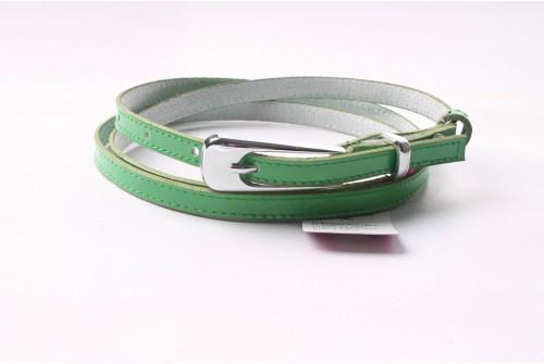 Ремень женский кожаный (Зеленый) Andi