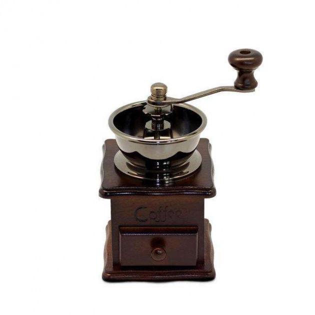 Ручная кофемолка Kamille KM-7018 деревянная настольная механическая прекрасный подарок