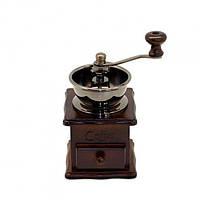 Ручная кофемолка Kamille KM-7018 деревянная настольная механическая прекрасный подарок, фото 1