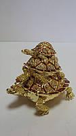 Шкатулка с камнями Черепахи размер 10*7*10
