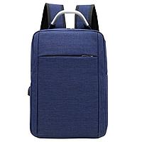 Городской рюкзак синий оригинальный с USB для зарядки 169 С.
