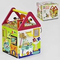 Деревянный Логический куб Мой первый домик Fun Toys C 31759