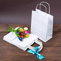 Бумажные пакеты с ручками 170 мм*90 мм*230 мм белые