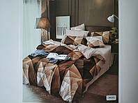 Постельное белье полисатин двуспальный евро ELWAY EW085