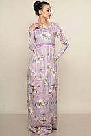 Замшевое лиловое женское платье в пол RiMari Фиона-Замш  42, 46, 48, 52