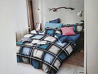 Постельное белье полисатин двуспальный евро ELWAY EW086