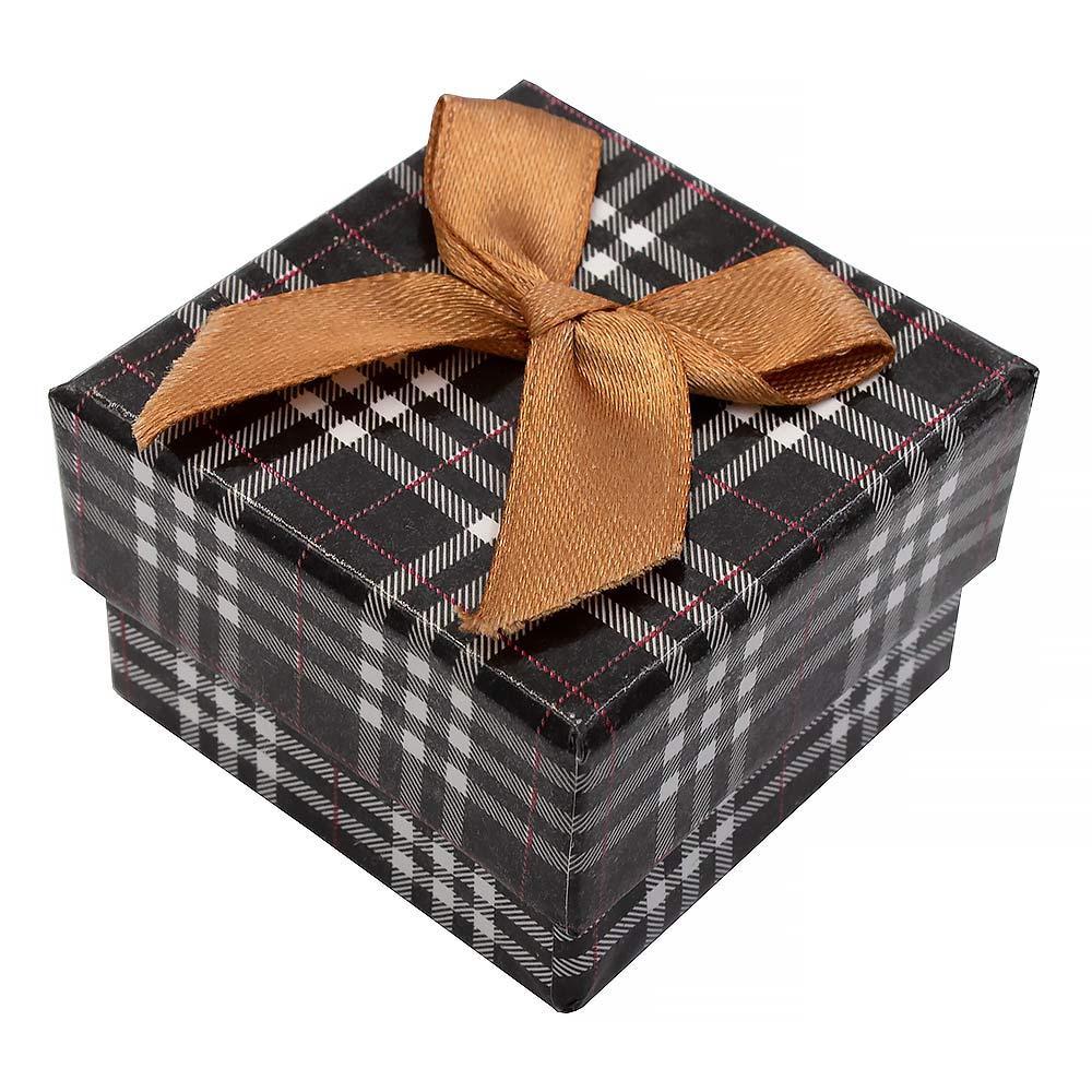 Коробка подарочная с рисунком (для колец) 5х5 см