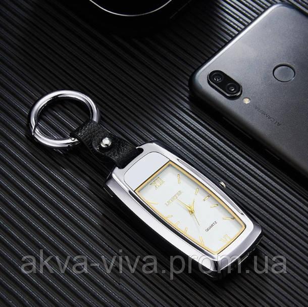 USB запальничка з годинником і ліхтариком (ЮСБ-126-3) Темно-сірий