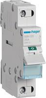 Выключатель нагрузки 1-полюсный 25А/230В, 1м Hager (SBN125)