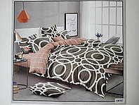 Постельное белье полисатин двуспальный евро ELWAY EW087
