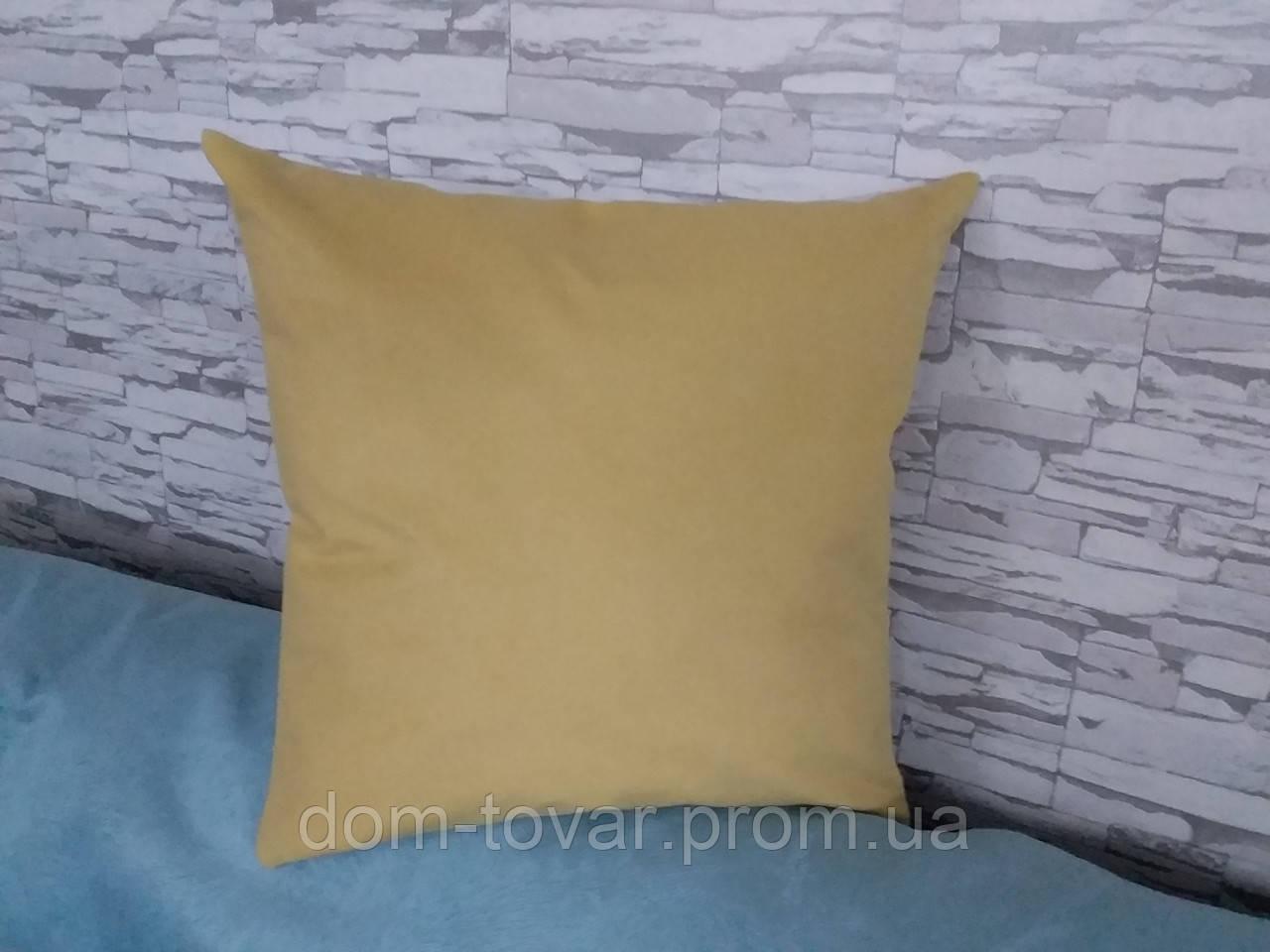 Наволочка декоративная 40х40 бледно-желтая