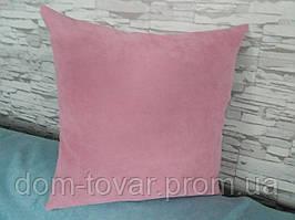 Наволочка декоративная 40х40 розовая