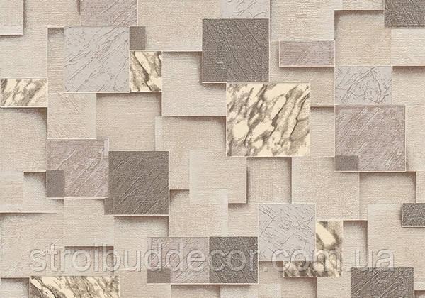 Обои Lanita на бумажной основе Эффект песочно-бежевый 0,53х10,05м