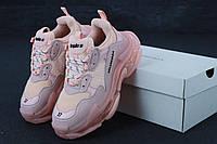 Женские кроссовки Balenciaga Triple S 2.0 Rose (Реплика ААА+)