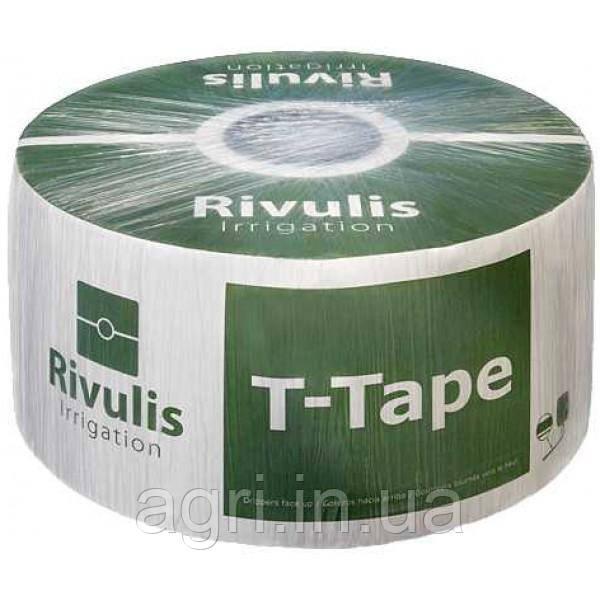 Капельная лента T-Tape 6mil 20см. Бухта 23м.