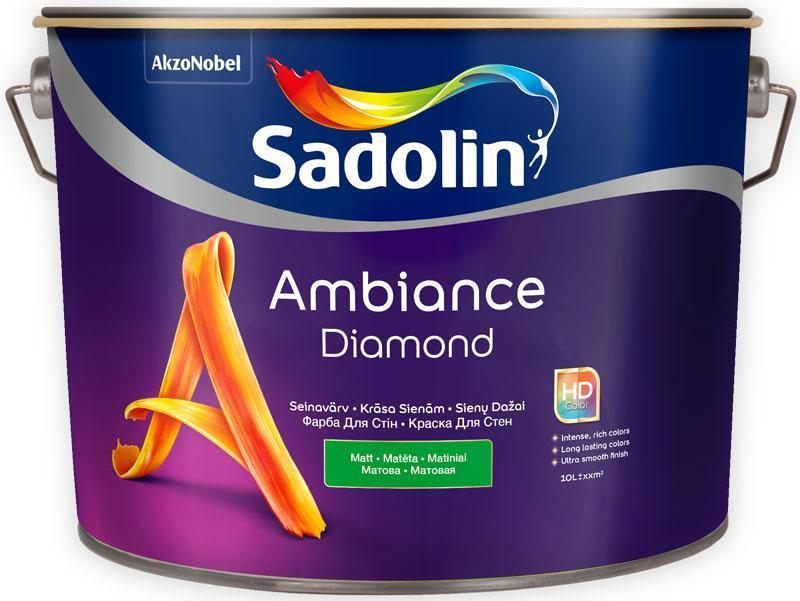 Матовая краска для стен Sadolin AMBIANCE DIAMOND 10 л