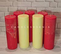 Большие декоративные парафиновые свечи. Свічки. Великі парафінові свічки.