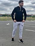 КАЧЕСТВО! REEBOK Classic | Мужской спортивный костюм. Чоловічий спортивний костюм | РИБОК, РІБОК (Черно-Серый), фото 5