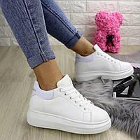 Женские белые кроссовки Spice 1236