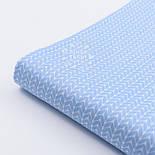 """Сатин ткань """"Свитерок"""" голубого цвета, № 2433с, фото 2"""
