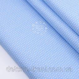 """Сатин ткань """"Свитерок"""" голубого цвета, № 2433с"""