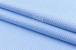 """Сатин ткань """"Свитерок"""" голубого цвета, № 2433с, фото 4"""