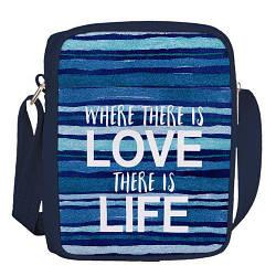 Сумка для підлітків Junior boy Where there is love there is life (SDB_18A018_TSI)