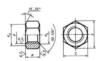 Купить гайку шестигранную ГОСТ 5915-70 в Украине