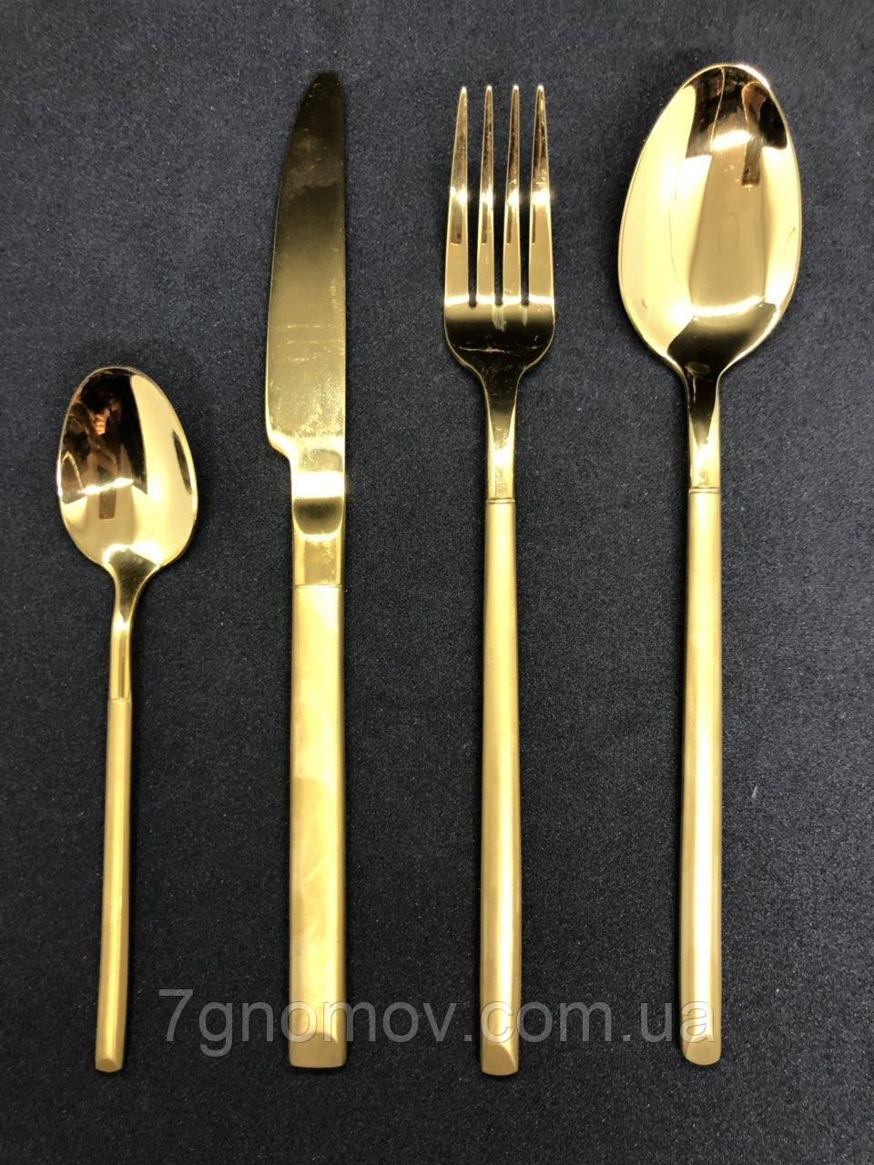 Набір столових приборів в коробці 4 предмета Gold