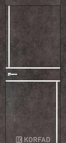 Двери KORFAD щитовые ALP-07,полотно+коробка+2к-та наличников+добор 60мм, эко-шпон Sincrolam, фото 2
