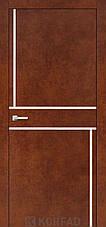 Двери KORFAD щитовые ALP-07,полотно+коробка+2к-та наличников+добор 60мм, эко-шпон Sincrolam, фото 3
