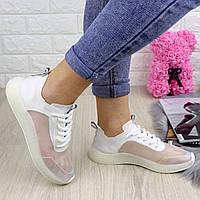 Женские прозрачные кроссовки белые Ibiza 1201, фото 1