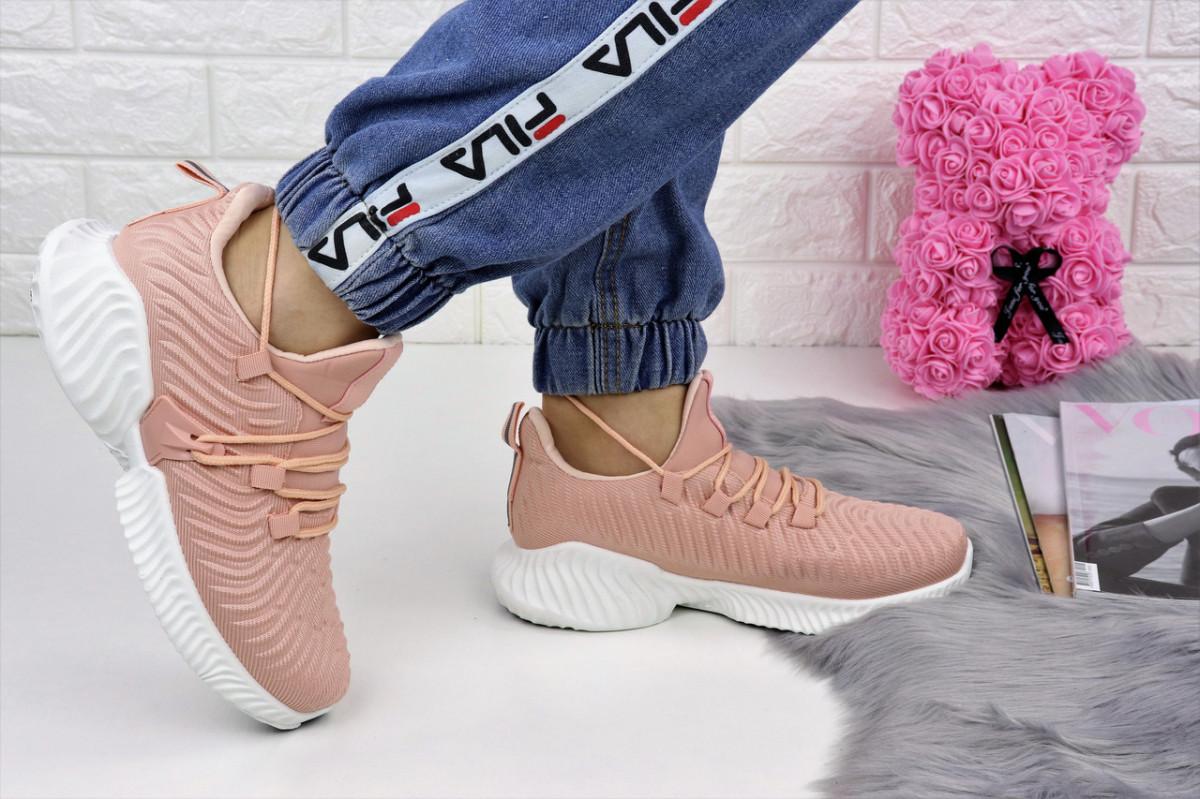 Женские пудровые кроссовки Pink 1129