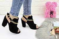 Женские стильные босоножки Zara на каблуке 1162, фото 1