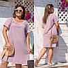 Платье женское жатка батал по 62 размер  гул804