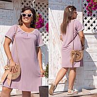Платье женское жатка батал по 62 размер  гул804, фото 1